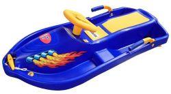 Boby s volantem Snowboat - modrý