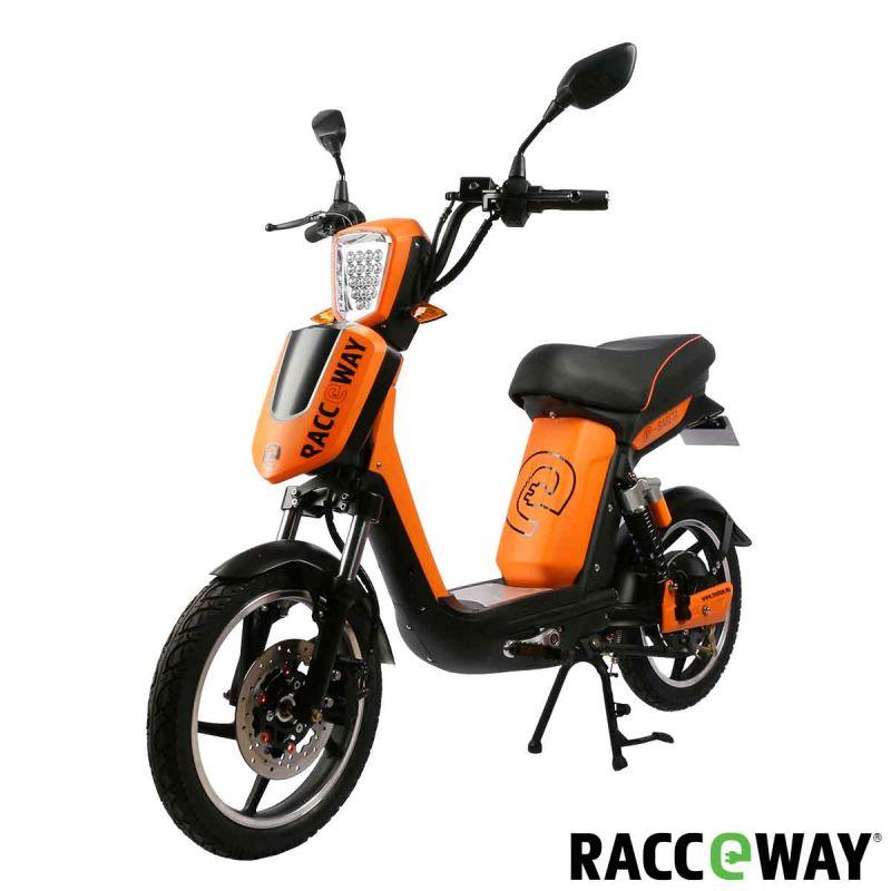 Elektrický motocykl RACCEWAY E-BABETA, oranžový
