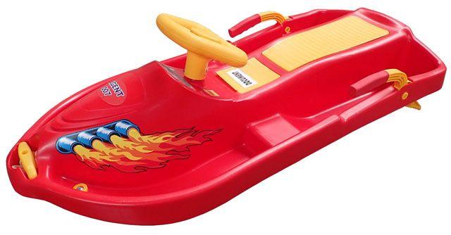 Boby s volantem Snowboat - červený